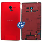 Sony L35h Xperia ZL  Battery Cover in Red
