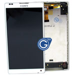Sony L35h Xperia ZL Complete LCD with frame in white