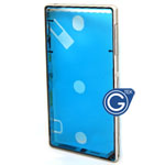 Sony L39h Xperia Z1 Centre frame / chrome bezel with 3pcs small plug in white