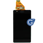 Sony M36h Xperia ZR Complete LCD with digitizer in black