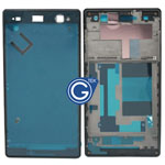 Sony Xperia C3 LCD Frame Front Cover in Black
