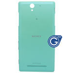 Sony Xperia C3,D2533 Back Cover with power button and volume button in Cyan