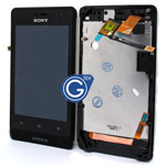 Sony Xperia Go ST27i Complete LCD with Frame in black