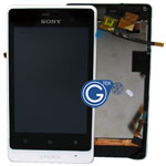 Sony Xperia Go ST27i Complete LCD with Frame in white