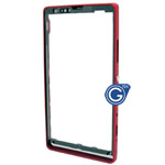 Sony Xperia SP M35h Centre frame with adhesive in red