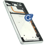 Sony Xperia Z3 (5.2 inch) Centre frame chrome bezel with 2pcs small plug in Silver