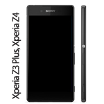 Genuine Sony Xperia Z3 Plus, Xperia Z4, Sony E6553 Complete lcd and touchpad with frame in Black - Part number 1293-1496.1