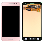 Genuine Samsung SM-A300 Galaxy A3 Complete Lcd with Digitizer Touchpad in Pink- Samsung part no: GH97-16747E
