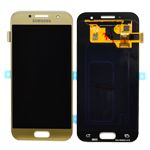 Genuine Samsung Galaxy A3 2017 (SM-A320F) Lcd with Touchscreen in Gold - Samsung part no : GH97-19732B
