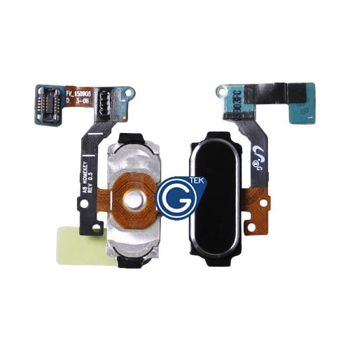 Samsung Galaxy A8 SM-A800F Home Button Flex Complete in Black