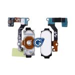 Samsung Galaxy A8 SM-A800F Home Button Flex Complete in White