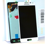 Genuine Samsung SM-G850 Alpha Lcd and touchpad in white - Part no: GH97-16386D