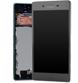 Genuine Sony Xperia X (F5121)/X Dual (F5122) Complete Display Lcd with Digitizer Touchpad with Frame in Black-Sony part no: 1302-4791