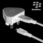 Genuine Blackberry 3pin USB Charging Adaptor White Bulk (ASY-31292-004) with Blackberry Micro Usb Data Cable White grey (ASY-31296-001)