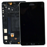 Genuine Samsung SM-T235 Galaxy Tab 4 7.0 LTE Complete Lcd with Touchscreen in Black-Samsung part no: GH97-16036A