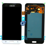 Genuine Samsung SM-J320F Galaxy J3 (2016) Lcd and touchpad in white - Part no: GH97-18414A
