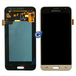 Genuine Samsung SM-J320F Galaxy J3 (2016) Lcd module and touchpad in Gold - GH97-18414B