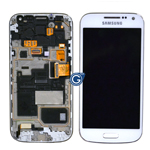 Samsung GT-I9195D Galaxy S4 Mini VE (Value Edition) Lcd and touchpad with frame in White - Part no: GH97-16992B