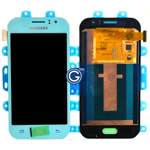 Genuine Samsung SM-J110 Galaxy J1 Ace lcd and touchpad in Light  Blue - Part no: GH97-17843C