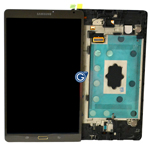 Genuine Samsung SM-T700 Galaxy Tab S Complete Lcd with Digitizer Touchpad in Brown -Samsung part no: GH97-16047D