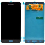 Genuine Samsung Galaxy C7 Lcd and touchpad in Black - GH97-19135B