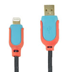 Micro USB Charge Sync Cable High Speed in Blue and Orange