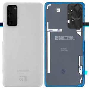 Genuine Samsung Galaxy S20 FE 5G (SM-G781) Battery Cover In Cloud White - Part no: GH82-24223B