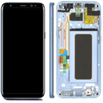 Genuine Samsung S8 Plus (SM-G955) Complete lcd and touchpad with frame assembly unit in Coral Blue - Part no: GH97-20470D