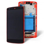 Genuine LG D802 Optimus G2 Lcd and touchpad with frame in Red - LG P/N: ACQ87040904