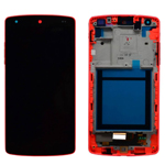Genuine LG Nexus 5 (D820) Complete lcd and digitizer with frame in Red - LG Part no: ACQ86661403
