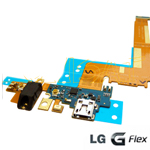 Genuine LG G-flex (D955) Main PCB Assembly Flex with Microphone, Charging Connector, earphone Jack audio (PCB Assembly, Flexible) - LG Part number: EBR78142201