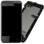 Genuine HTC Desire 300 Complete Display incl. Frame, Full LCD Screen, Digitizer, Front Cover  P/N:80H01655-00, 83H10099-00