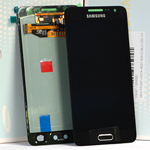 Genuine Samsung Galaxy A3 (SM-A300) Lcd and touchpad in Black - Samsung part no: GH97-16747B
