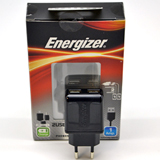 Energizer European 2 Pin Home/Travel Charger - Dual (2) USB - Charge 2 Devices ( 1 AMP) - Comes with Micro USB Cable - Retail Packaged