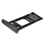 Genuine Sony Xperia X Performance (F8131) Sim Card Tray in Black-Sony part no:1302-3708