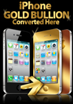 A2 iPhone Gold Bullion converted Here Poster