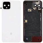 Genuine Google Pixel 4 Clearly White Rear / Battery Cover - Part no: 20GF2WW0002