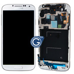 Genuine Samsung Galaxy S4 GT-i9500 Complete lcd and digitizer with frame in White frost - Part no: GH97-14630A