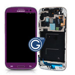 Genuine Samsung i9505 Galaxy S4 LTE Complete lcd and touchpad and frame in Purple - part no: GH97-14656D