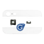 iPhone 5 Back cover glasses camera flash and camera lens 4 in 1 set in white-Replacement part (compatible)