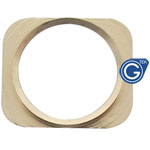 iPhone 5 white home button with rose gold chrome ring