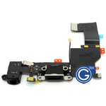 iPhone 5C OEM Charging System Connector with flex and earphone flex socket (Black)
