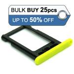 25pcs Bulk Packed iPhone 5C sim holder yellow