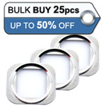 25pcs iPhone 5S home button chrome ring in silver