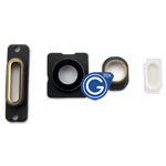 iPhone 5S camera lens, earphone chrome ring ,charging connector ring and flash light 4pcs set in Gold