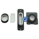 iPhone 5S camera lens, earphone chrome ring ,charging connector ring and flash light 4pcs set in Silver