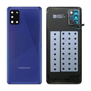 Genuine Samsung Galaxy A31 (A315F) Back Cover Blue - Part No: GH82-22338D