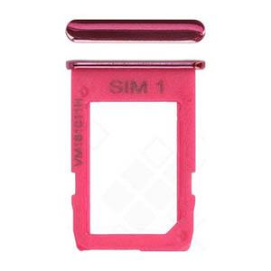 Genuine Samsung Galaxy J4+ (SM-J415F) Sim Card Holder In Pink - Part No: GH64-07066F