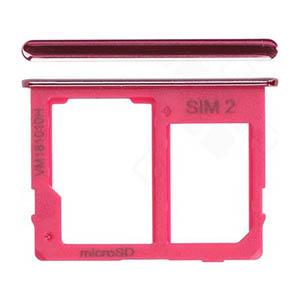 Genuine Samsung Galaxy J4+ (SM-J415F) Sim/SD Holder In Pink - Part No: GH64-07065F