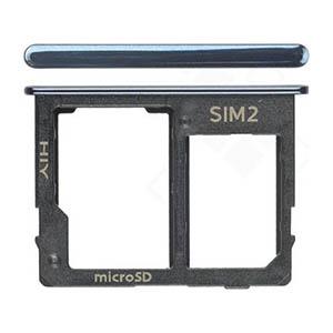 Genuine Samsung Galaxy J4+, J6+ 2018 Sim/SD Holder In Black - Part No: GH64-07065A